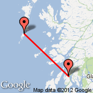 Oban (Oban Airport, OBN) - Barra/Hebrides (North Bay, BRR)