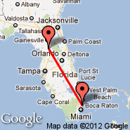 Ocala (Taylor Field, OCF) - Fort Lauderdale (Fort Lauderdale/hollywood International, FLL)