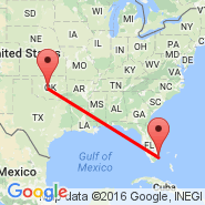 Oklahoma City (Will Rogers World Airport, OKC) - Fort Lauderdale (Fort Lauderdale/hollywood International, FLL)