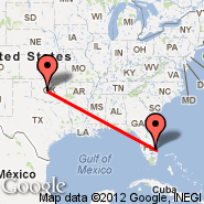 Oklahoma City (Will Rogers World Airport, OKC) - Fort Pierce (St Lucie County, FPR)