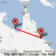 Mornington Island (Mornington, ONG) - Townsville (Townsville International, TSV)