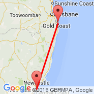 Gold Coast (OOL) - Newcastle (Belmont, BEO)