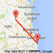 Gold Coast (OOL) - Kingaroy (KGY)