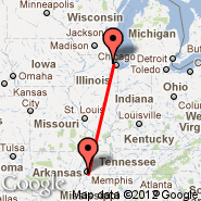 Chicago (O'Hare International Airport, ORD) - Memphis (Memphis International, MEM)