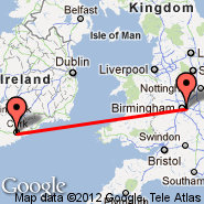 Cork (Cork International Airport, ORK) - Birmingham (Birmingham International Airport, BHX)