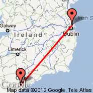 Cork (Cork International Airport, ORK) - Dublin (Dublin International Airport, DUB)