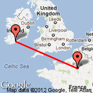 Paris (Metropolitan Area, PAR) - Cork (Cork International Airport, ORK)
