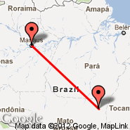Porto Alegre Do Norte (Pike County Airport-Hatcher Field, PBX) - Manaus (Eduardo Gomes Intl, MAO)
