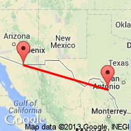 Piedras Negras (Piedras Negras International Airport, PDS) - Nogales (Nogales International Airport, NOG)