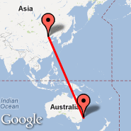 Beijing (Beijing Capital Int., PEK) - Sydney (Kingsford Smith, SYD)