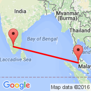 Penang (Penang International, PEN) - Coimbatore (Peelamedu, CJB)