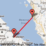 Penang (Penang International, PEN) - Medan (Polonia, MES)