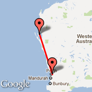 Perth (Perth International, PER) - Monkey Mia (Shark Bay, MJK)
