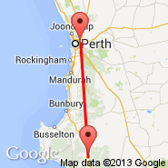 Perth (Perth International, PER) - Manjimup (MJP)
