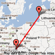 Palanga/Klaipeda (Palanga International, PLQ) - Prague (Prague - Ruzyne International, PRG)