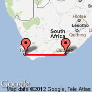 Port Elizabeth (PLZ) - Cape Town (Cape Town International, CPT)