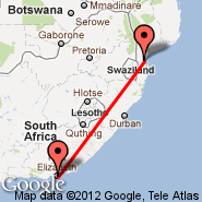 Port Elizabeth (PLZ) - Maputo (Maputo International, MPM)