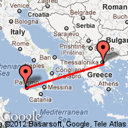 Palermo/Sicily (Punta Raisi, PMO) - Thessaloniki (Macedonia International, SKG)