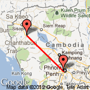 Phnom Penh (Phnom Penh International, PNH) - Battambang (BBM)