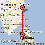 Pondicherry (PNY) - Colombo (Bandaranayake, CMB)