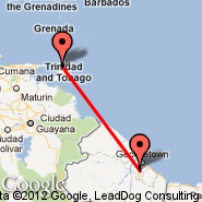 Port-of-Spain (Piarco International, POS) - Georgetown (Cheddi Jagan International, GEO)