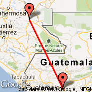 Palenque (Palenque International Airport, PQM) - Guatemala City (La Aurora, GUA)
