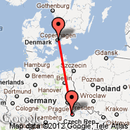 Prague (Prague - Ruzyne International, PRG) - Copenhagen (Kastrup, CPH)