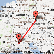 Prag (Prague - Ruzyne International, PRG) - Milan (Metropolitan Area, MIL)