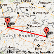 Prague (Prague - Ruzyne International, PRG) - Olomouc (OLO)