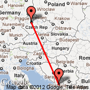 Prague (Prague - Ruzyne International, PRG) - Podgorica (Golubovci, TGD)