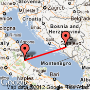Pescara (Liberi, PSR) - Mostar (Mostar International Airport, OMO)