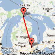 Pontiac (Oakland County International Airport, PTK) - Mackinac Island (MCD)