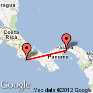 Panama City (Tocumen International, PTY) - Puerto Armuelles (Puerto Armuellas, AML)