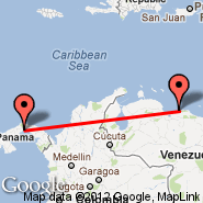 Panama City (Tocumen International, PTY) - Caracas (Simon Bolivar International Airport, CCS)