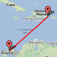 Panama City (Tocumen International, PTY) - Punta Cana (Punta Cana International, PUJ)