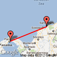 Panama City (Tocumen International, PTY) - Santa Marta (Simon Bolivar, SMR)