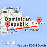 Punta Cana (Punta Cana International, PUJ) - Barahona (Maria Montez International Airport, BRX)