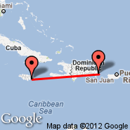 Punta Cana (Punta Cana International, PUJ) - Kingston (Norman Manley, KIN)