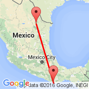 Puerto Escondido (Puerto Escondido International Airport, PXM) - Tuxtla Gutierrez (Aeropuerto del Norte International Airport, NTR)
