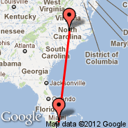 Raleigh/Durham (Raleigh-durham International Airport, RDU) - Fort Lauderdale (Fort Lauderdale/hollywood International, FLL)