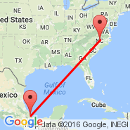 Raleigh/Durham (Raleigh-durham International Airport, RDU) - Veracruz (Las Bajadas, VER)