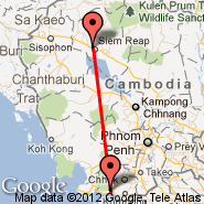 Siem Reap (Angkor International Airport, REP) - Kampot (KMT)