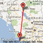 Siem Reap (Angkor International Airport, REP) - Sihanoukville (Sihanoukville International Airport, KOS)