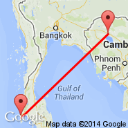 Siem Reap (Angkor International Airport, REP) - Phi Phi Island (PHZ)