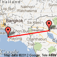 Siem Reap (Angkor International Airport, REP) - Pattaya (PYX)