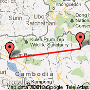 Siem Reap (Angkor International Airport, REP) - Ratanakiri (RBE)