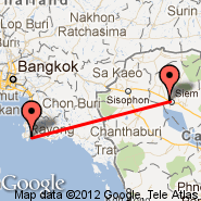 Siem Reap (Angkor International Airport, REP) - Utapao (U-Taphao International Airport, UTP)