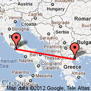 Rome (Metropolitan Area, ROM) - Thessaloniki (Macedonia International, SKG)