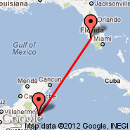 Fort Myers (Southwest Florida Reg, RSW) - Belize City (Municipal, TZA)