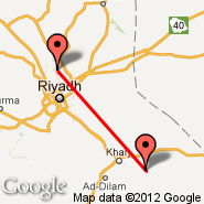 Riyadh (King Khaled Intl, RUH) - Al Kharj (Prince Sultan Air Base, AKH)